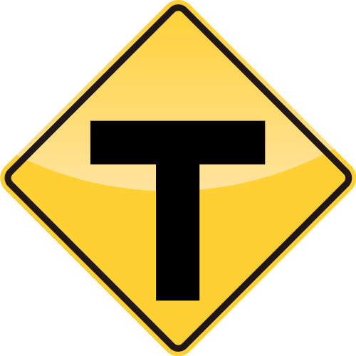37_T INTERSECTION AHEAD 前方行交叉路口