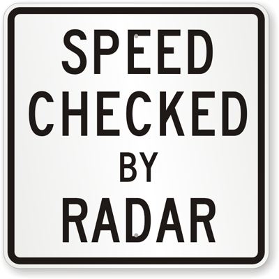 63_SPEED CHECKED BY RADAR 測速雷達