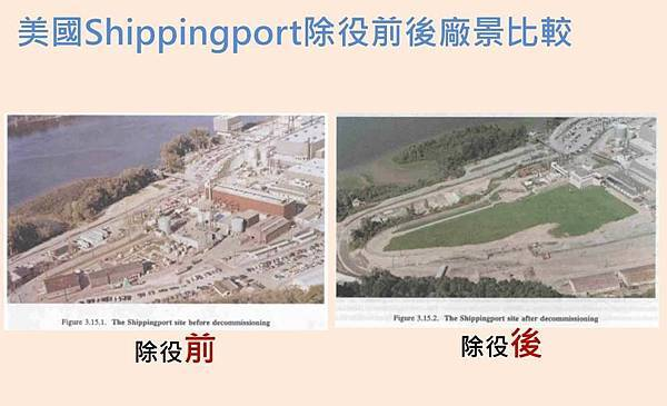 美國Shippingport除役前後廠景比較