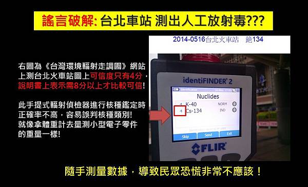 破解謠言:台北車站被測出致癌放射性核種??