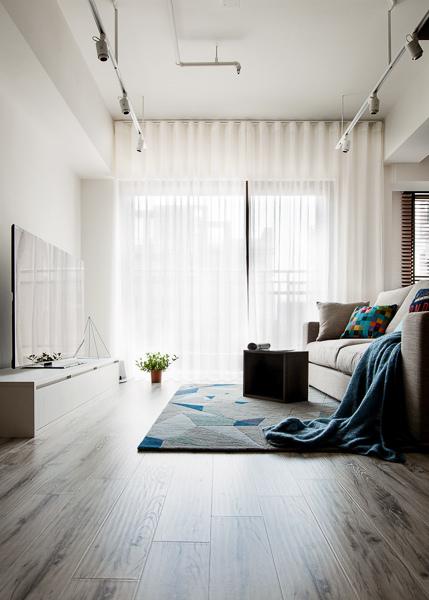 輕工業風 Industrial Style 磚牆 原生工業風  不鏽鋼檯面 廚房設計 吧台設計 淡水室內設計 客用衛浴 麻質窗簾