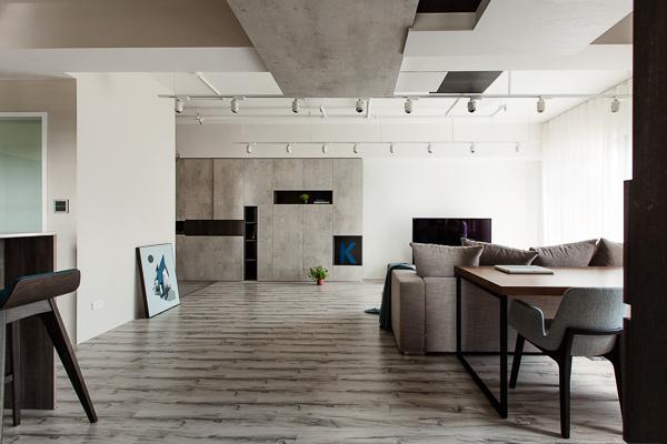 輕工業風 Industrial Style 磚牆 原生工業風  不鏽鋼檯面 廚房設計 吧台設計 淡水室內設計 裸露管線