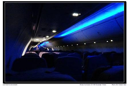 China Airlines CI-163 Economy Class