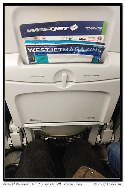 West Jet  Airlines WS-724 Economy Class