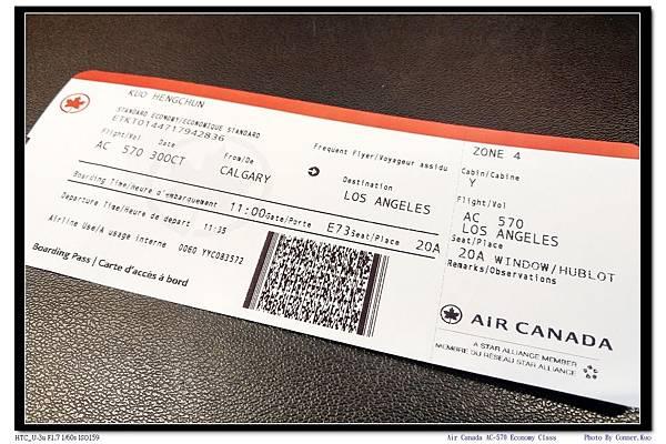 Air Canada AC-570 Economy Class