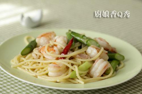 蘆筍蝦仁義大利麵2