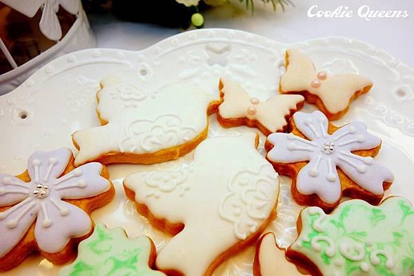 花鳥葉蝶糖霜鳥籠餅乾組