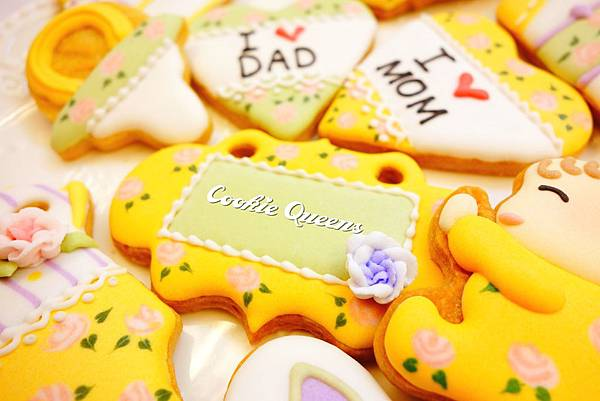 餅乾皇后_收涎餅乾sugar cookie rose 4