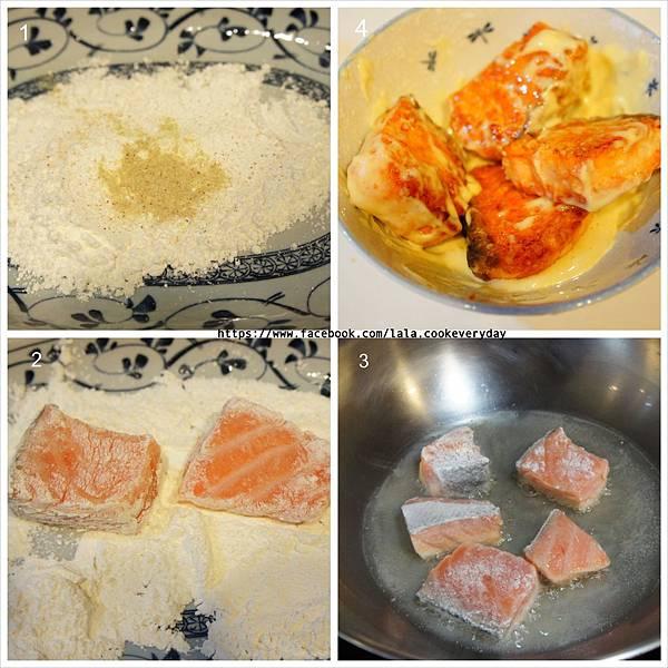 香煎鮭魚佐檸檬美奶滋