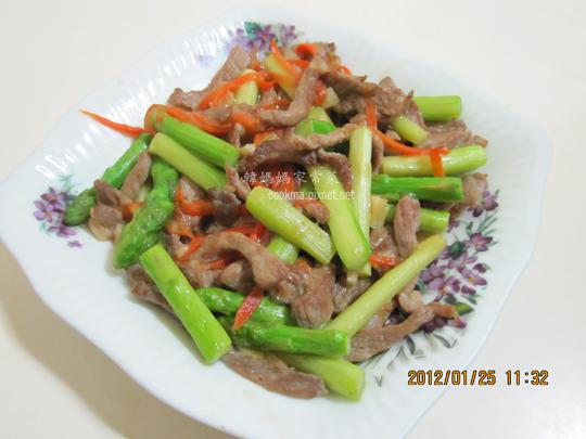 綠蘆筍炒肉絲