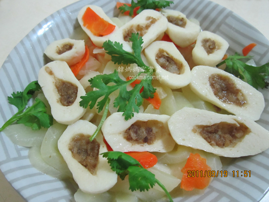 大黃瓜炒魚丸