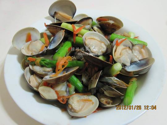 蛤蜊炒蘆筍
