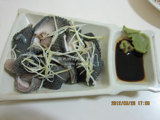 涼拌虱目魚皮料理