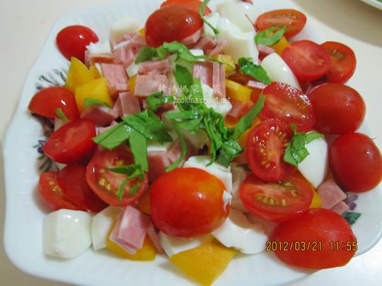 火腿番茄蛋涼拌