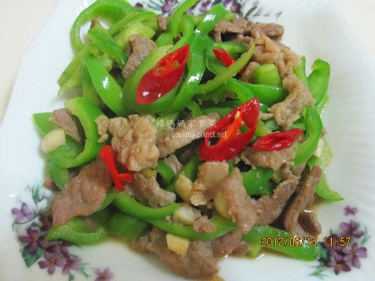 青椒炒肉絲食譜