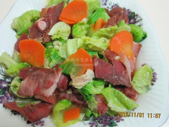 高麗菜心炒臘肉