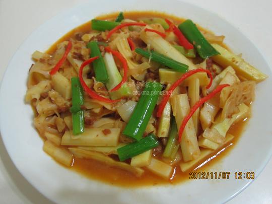 桂竹筍炒豆瓣醬