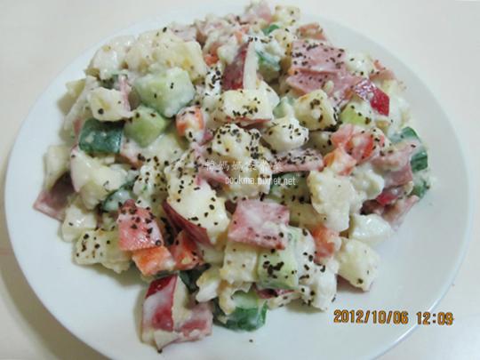 馬鈴薯蘋果小黃瓜沙拉