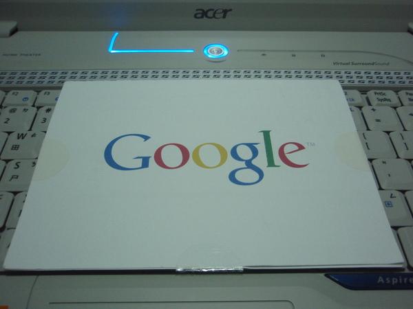 Pin碼紙片 非常有質感的Google LOGO