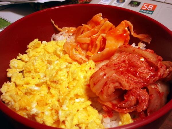 起司炒蛋+韓式泡菜+竹筍