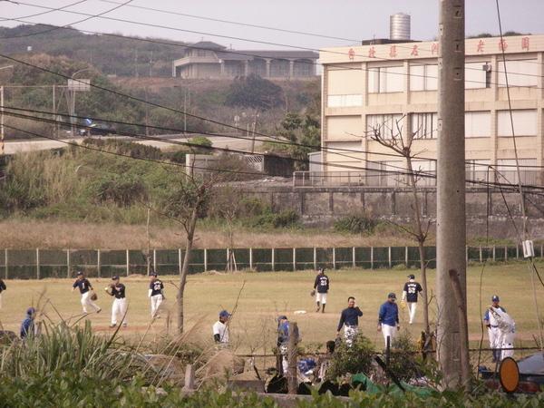 棒球隊在練習