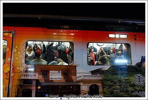 可怕的火車人潮
