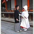 在八坂神社看到2對結婚新人