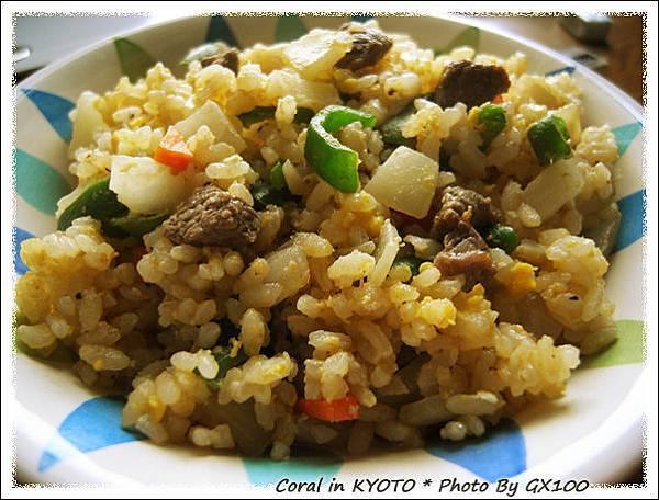 沙茶青椒牛肉炒飯