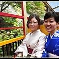 搭上行往龜岡方向的列車