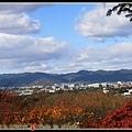 被山環繞住的京都市區