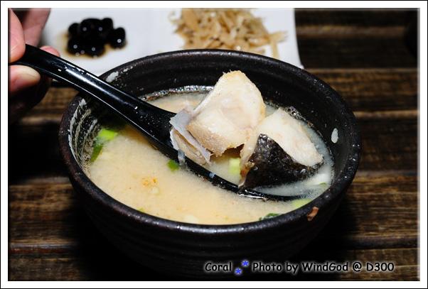 鮮甜的味噌湯...魚肉很大塊