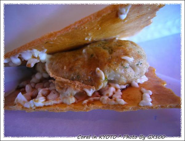 新京極這間的煎餅章魚燒果然比大阪吃到的美味