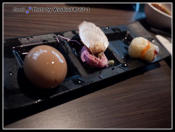 北海道嚴選套餐的開胃菜...真精緻