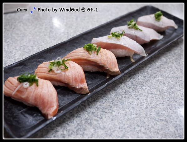 第二次吃依舊感動的火焰握壽司