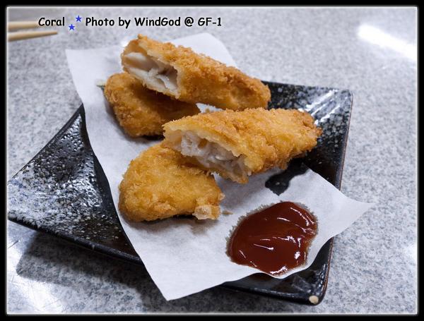 第一道上桌囉!!香酥的日式鱈魚調~~~不錯吃