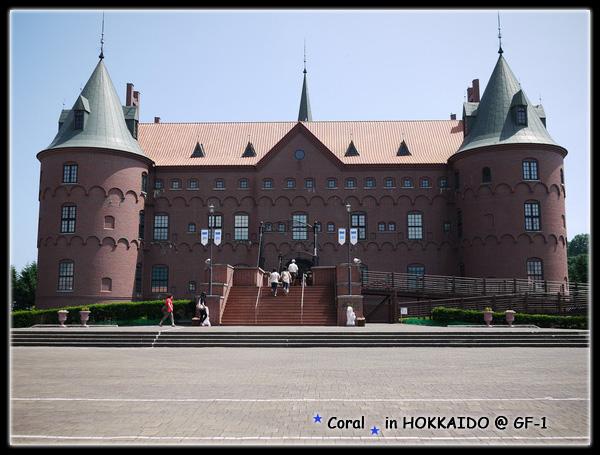 北歐風格的建築城堡,裡頭是大型水族館