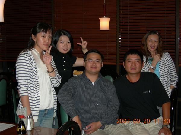 韓國餐廳五人行