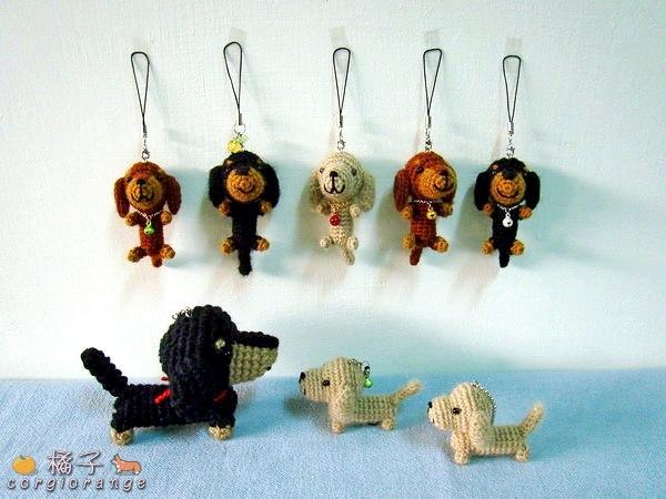 臘腸犬的編織娃娃.jpg