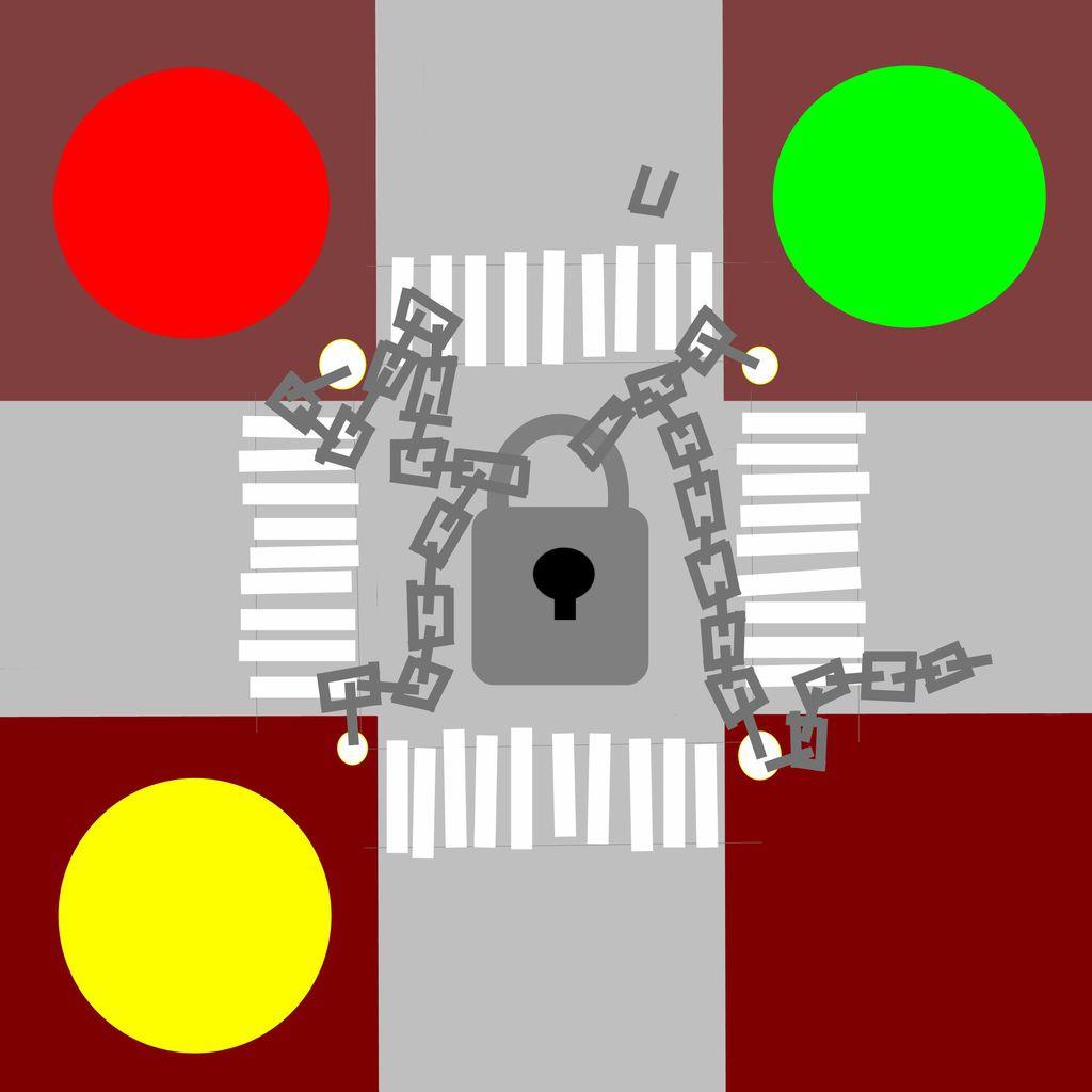 十字路口的鎖