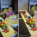 (3Y1M)排一大列車對看寶寶吃飯02