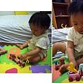 (3Y1M)小木頭玩具車-兩人一起玩看似正常