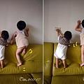 (1Y1M)寶寶貝貝爬沙發四連拍01