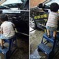 (3Y2M)小心翼翼爬上梯子洗車