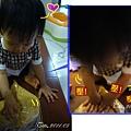 (3Y2M)寶寶貝貝幫忙和麵糰05-非常認真的貝貝