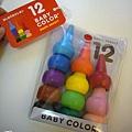 (1Y3M)畫畫機斯頭4-日本Baby-color蠟筆(12色)