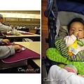 (2Y6M&6M)雲品之旅-晚餐03-急著要吃飯的寶寶和吃飽的貝貝