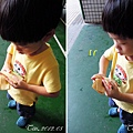 (4Y2M)中元節-認真寶認真地折紙錢