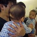 (5m)寶寶第一次照鏡子
