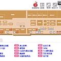 中和環球購物中心B2F樓層平面圖