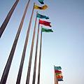 (9M)南寮海風吹-旗子一排照起來很美
